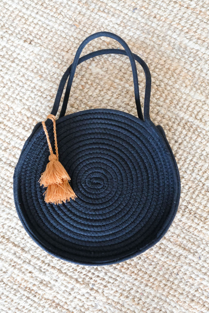 CIRCLE CHIC - BLACK CIRCLE BAG