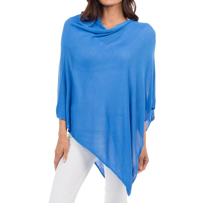 MONDAY BLUES -BAMBOO PONCHO - AZURE - Erin Edit Shop