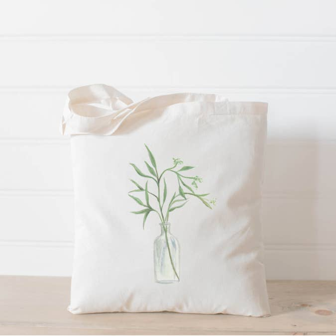 EUCALYPTUS WATERCOLOR TOTE BAG - Erin Edit Shop