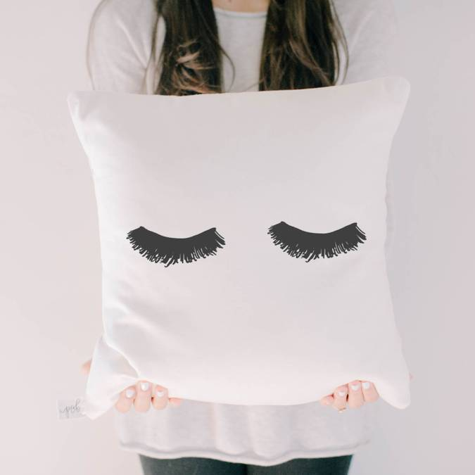 EYELASHES PILLOW COVER - Erin Edit Shop