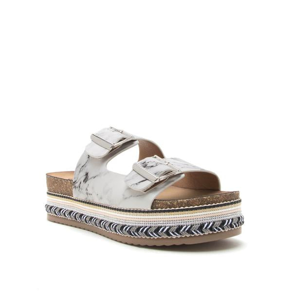 All About Quartz Buckle Sandal - Erin Edit Shop