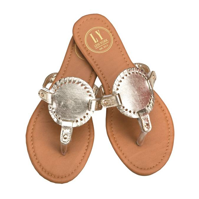 INTERCHANGEABLE SANDAL DISKS - GOLD REPTILE - Erin Edit Shop
