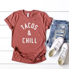 TACOS & CHILL T-SHIRT - Erin Edit Shop