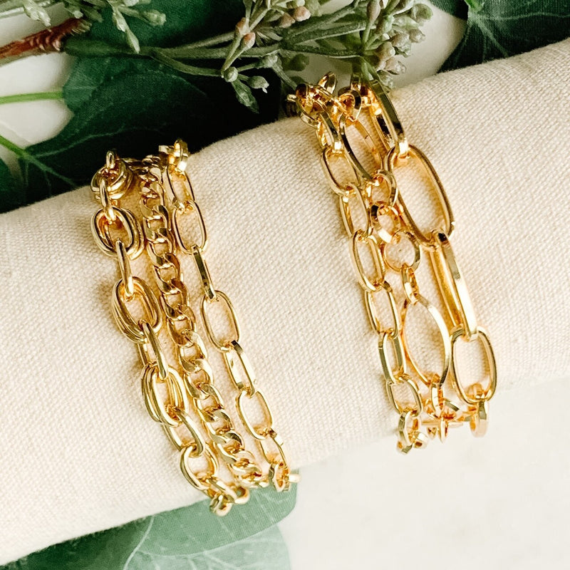 LAYERED IN GOLD BRACELETS