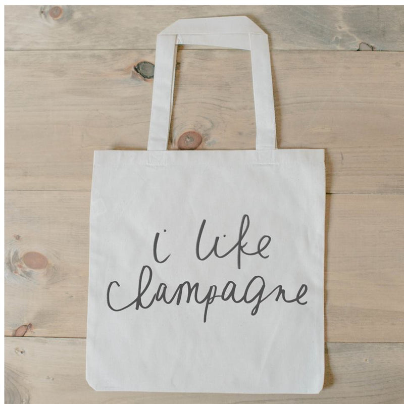 I LIKE CHAMPAGNE TOTE BAG - Erin Edit Shop