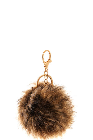 ESSENTIAL POM POM FUR KEYCHAIN - Erin Edit Shop