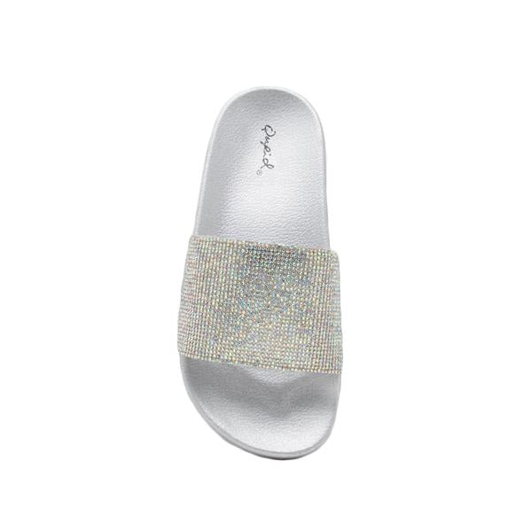 XOXO Silver Metallic Slide - Erin Edit Shop