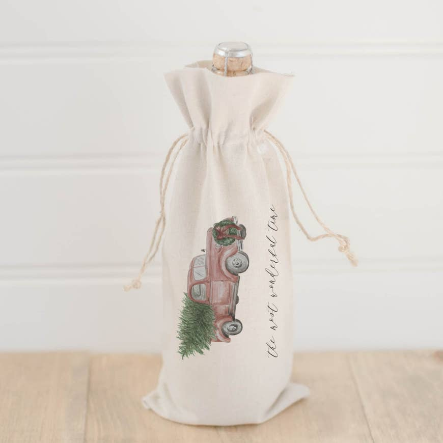 THE MOST WONDERFUL TIME OF THE YEAR WINE BAG - Erin Edit Shop