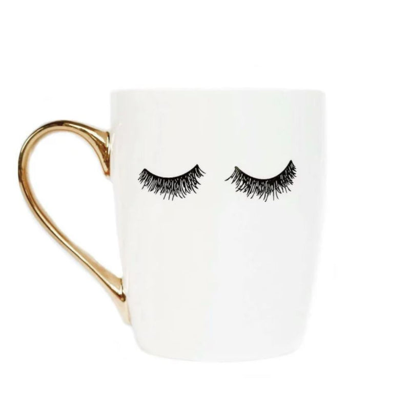 Eyelashes Gold Coffee Mug - Erin Edit Shop