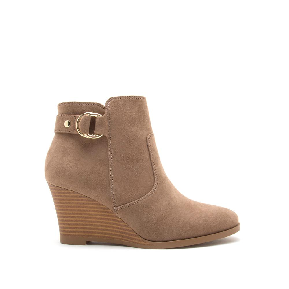 ORNA TAUPE SUEDE BOOTIE - Erin Edit Shop