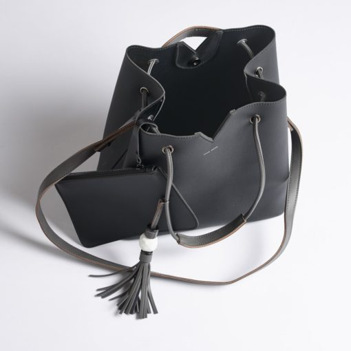 JASMINE BAG-METALLIC PEWTER - Erin Edit Shop