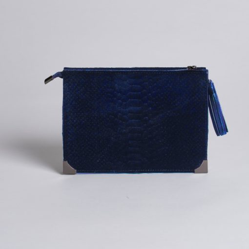 RENEE BLUE VELVET CLUTCH - Erin Edit Shop