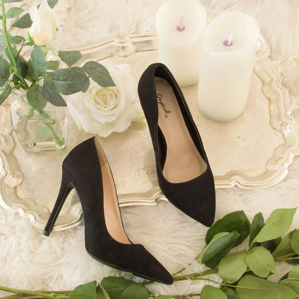 HERE FOR THE SHOW BLACK SUEDE PUMPS - Erin Edit Shop