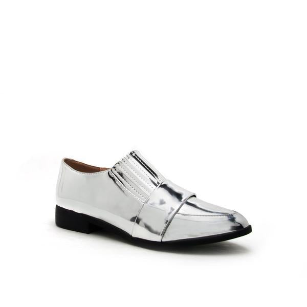 SILVER TUXEDO LOAFER - Erin Edit Shop
