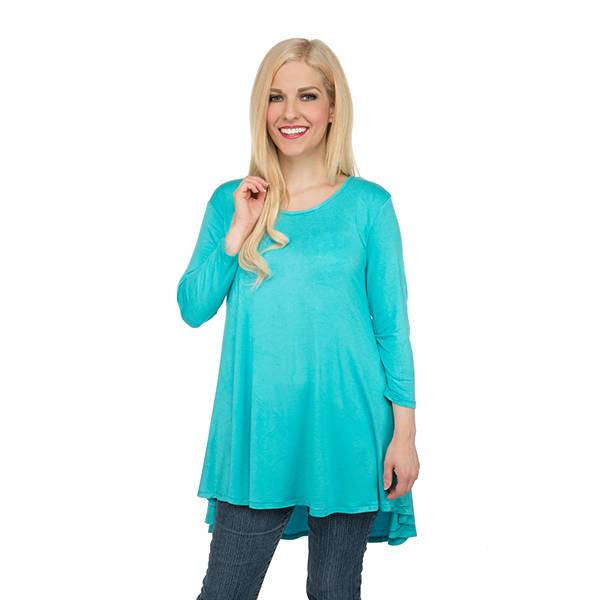 TOO CUTE TUNIC TOP - TURQUOISE - Erin Edit Shop