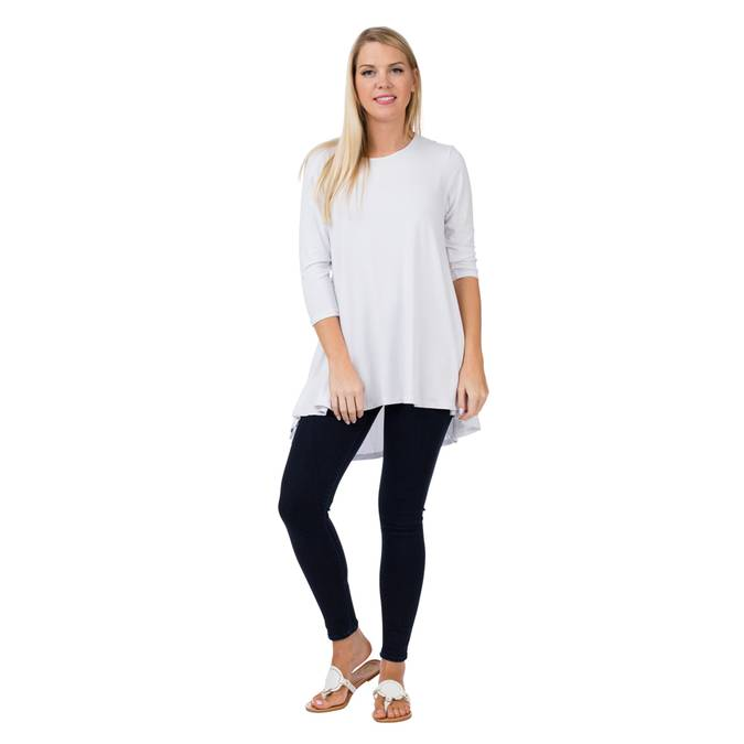 TOO CUTE TUNIC TOP - WHITE - Erin Edit Shop
