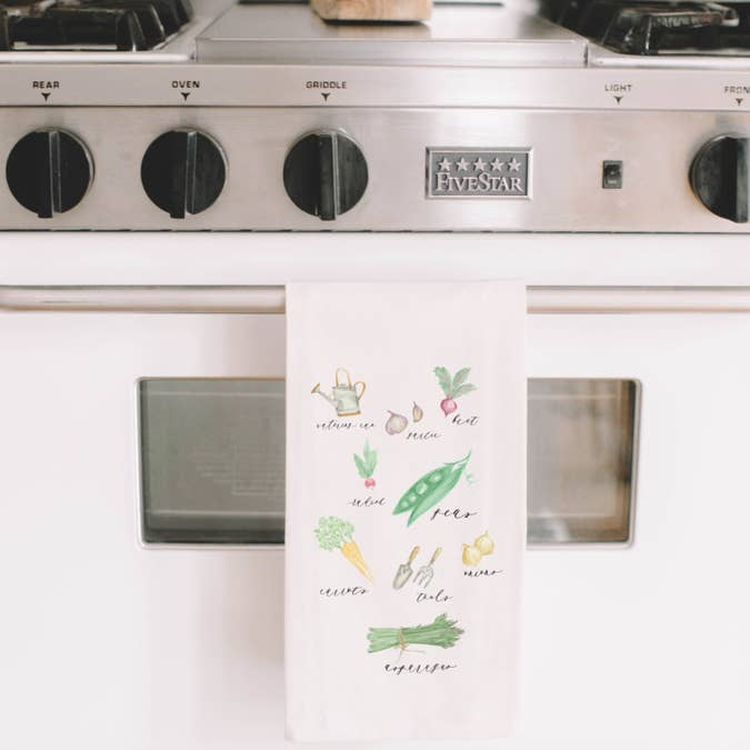 VEGGIE TEA TOWEL - Erin Edit Shop