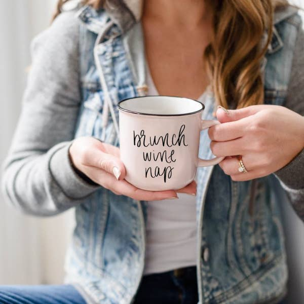 BRUNCH WINE NAP CAMPFIRE MUG