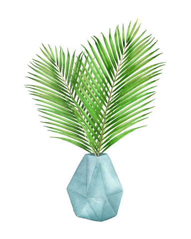 PIP & KATE FAN PALM LEAF WATERCOLOR PRINT
