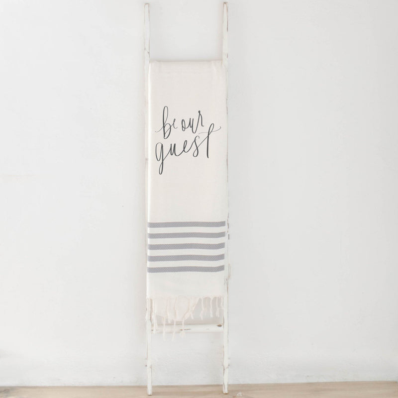 BE OUR GUEST BLANKET (GREY STRIPED) - Erin Edit Shop