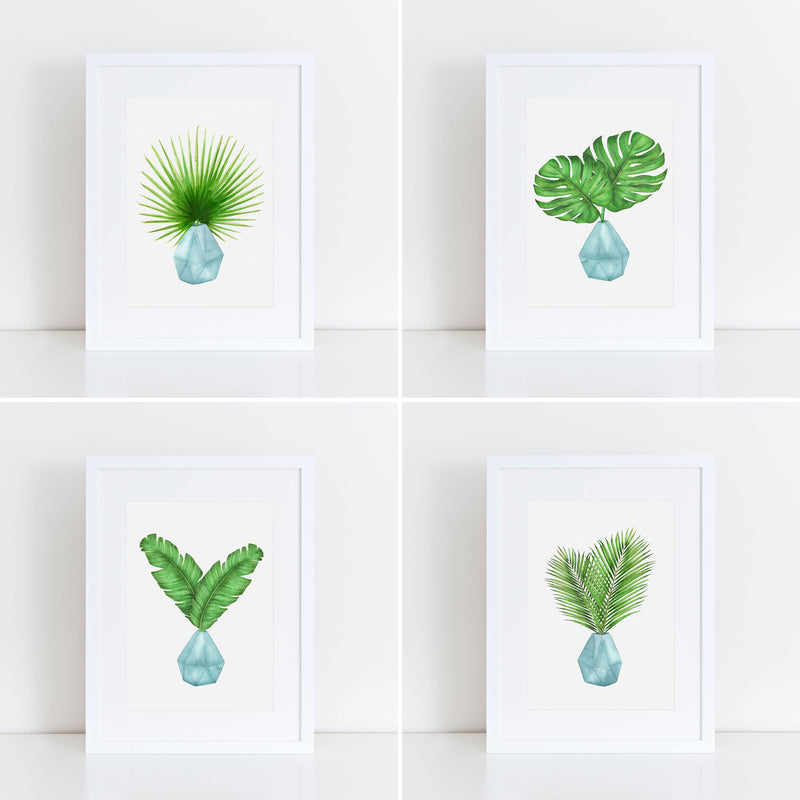 PIP & KATE FAN PALM LEAF WATERCOLOR PRINT - Erin Edit Shop