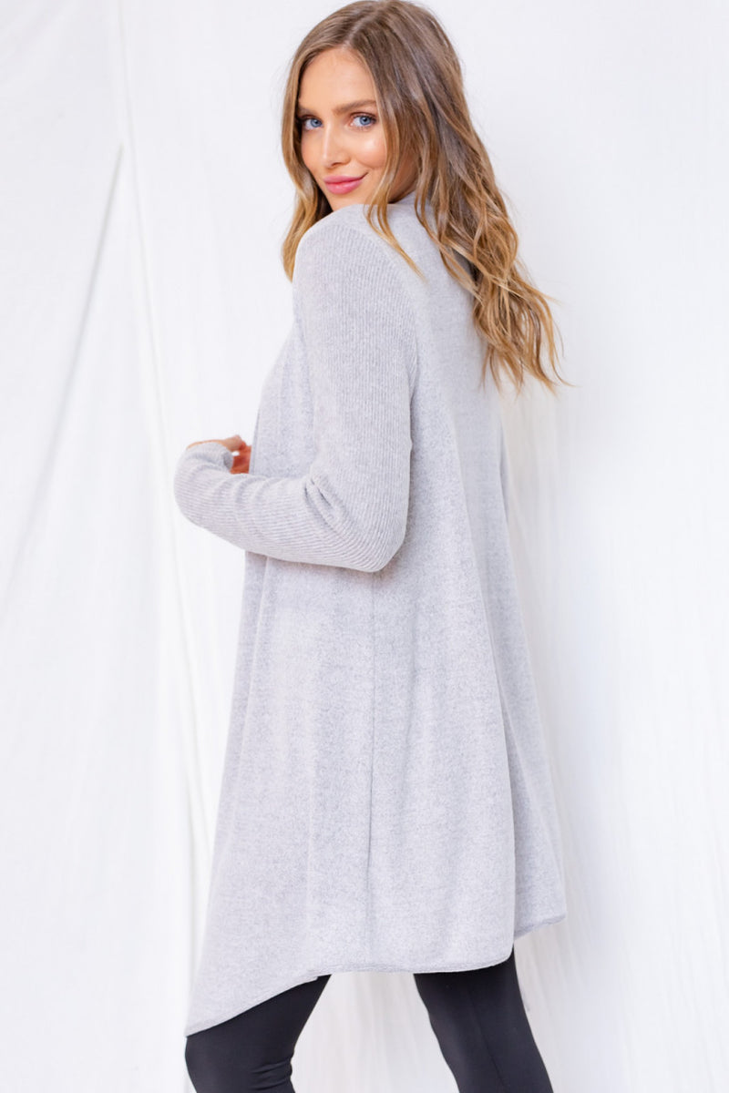GREY SKYLER CARDIGAN