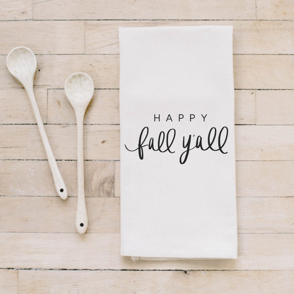 HAPPY FALL Y'ALL TEA TOWEL - Erin Edit Shop