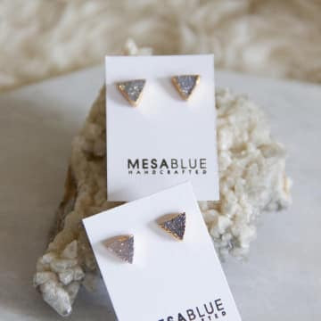 Mesa Blue Triangle Studs - Erin Edit Shop