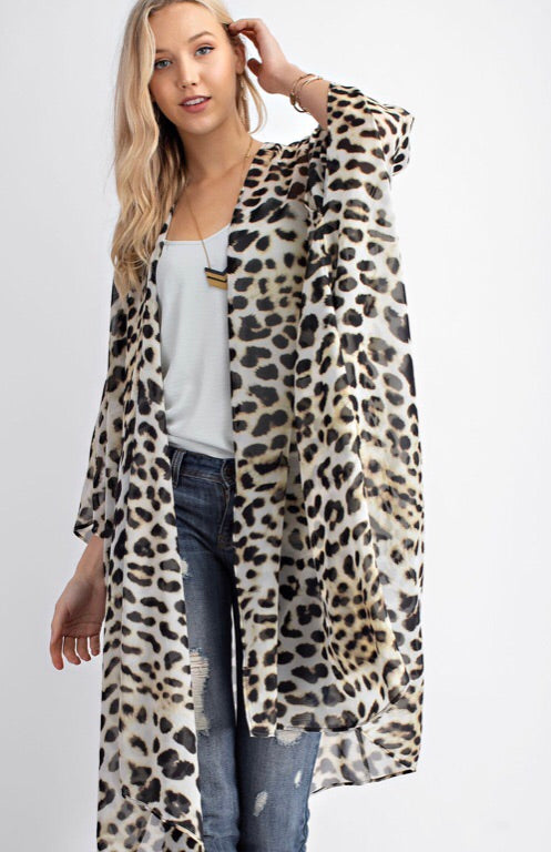 SAY IT WITH SPOTS - LEOPARD PRINT DUSTER - Erin Edit Shop