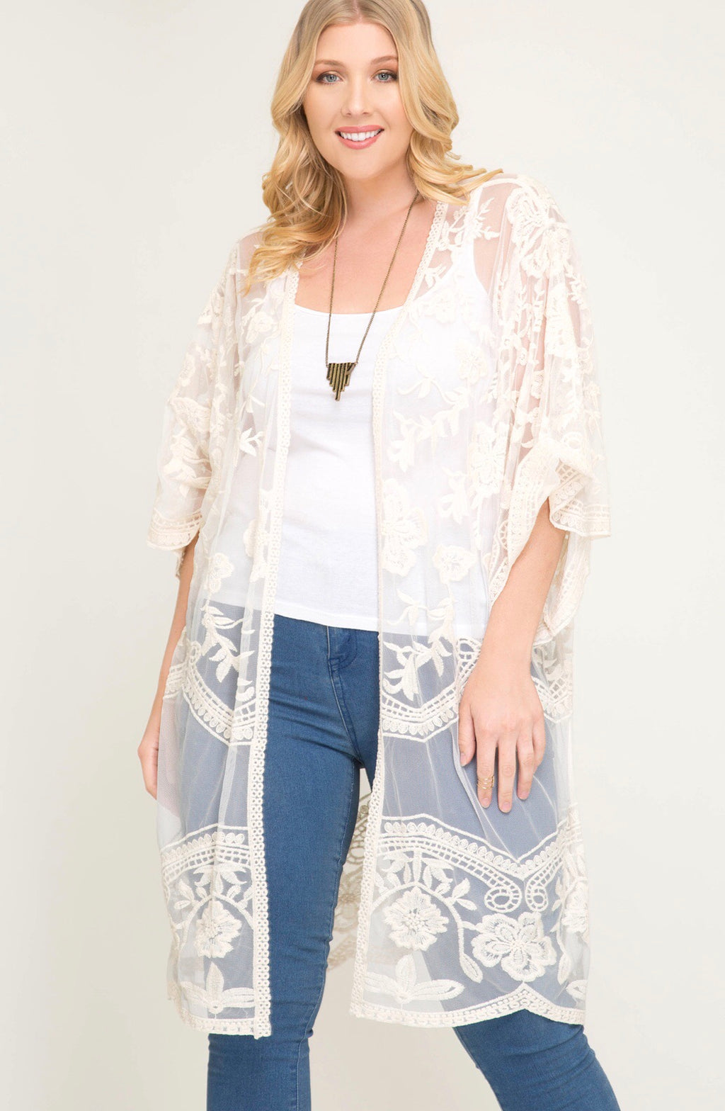 Cream & Sugar Please - Midi Duster Cardigan - Erin Edit Shop