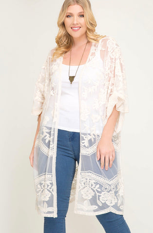 MONDAY BLUES -BAMBOO PONCHO - AZURE