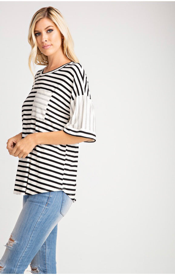 SEEING STRIPES TEE - Erin Edit Shop