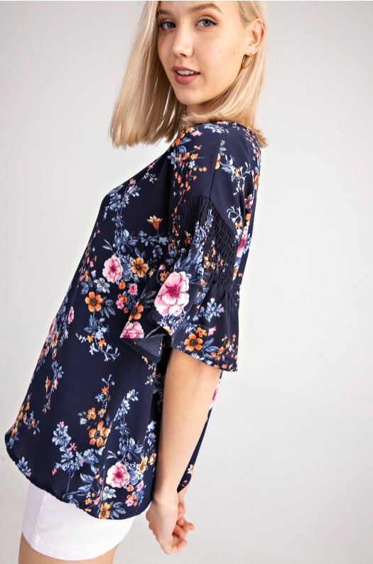 FALLING FOR FLORAL - SHORT SLEEVE TOP - Erin Edit Shop