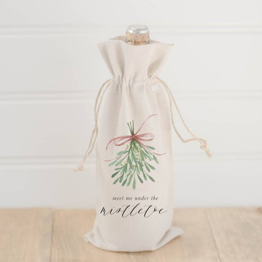MEET ME UNDER THE MISTLETOE WINE BAG - Erin Edit Shop