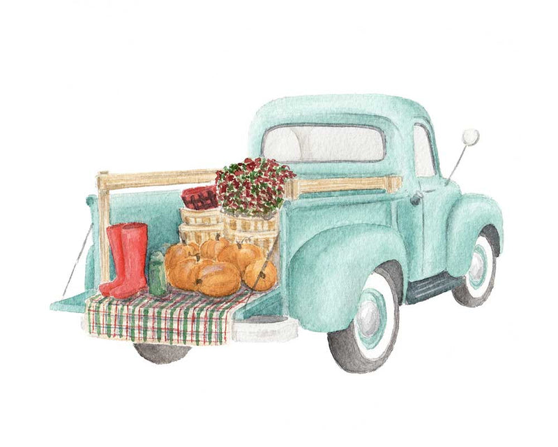 PIP & KATE VINTAGE TRUCK FALL WATERCOLOR PRINT - Erin Edit Shop
