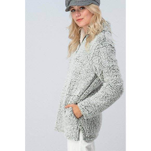 Sherpa Fleece - Wine - Erin Edit Shop