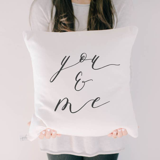 YOU & ME PILLOW COVER - Erin Edit Shop