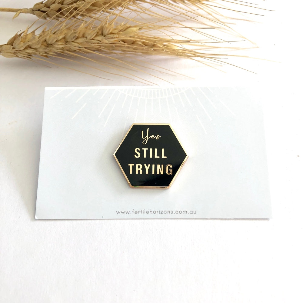 "Pins -  ""Yes STILL TRYING"""