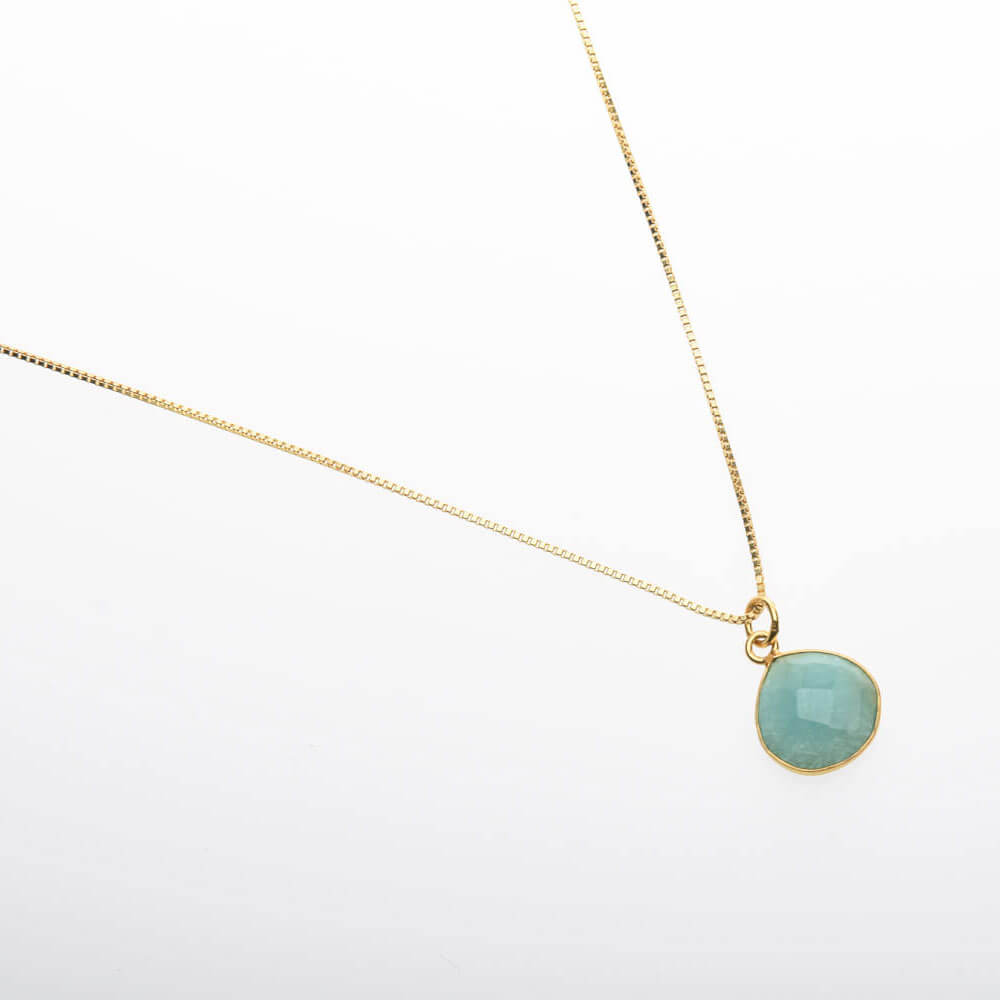 Amazonite Gold Pendant