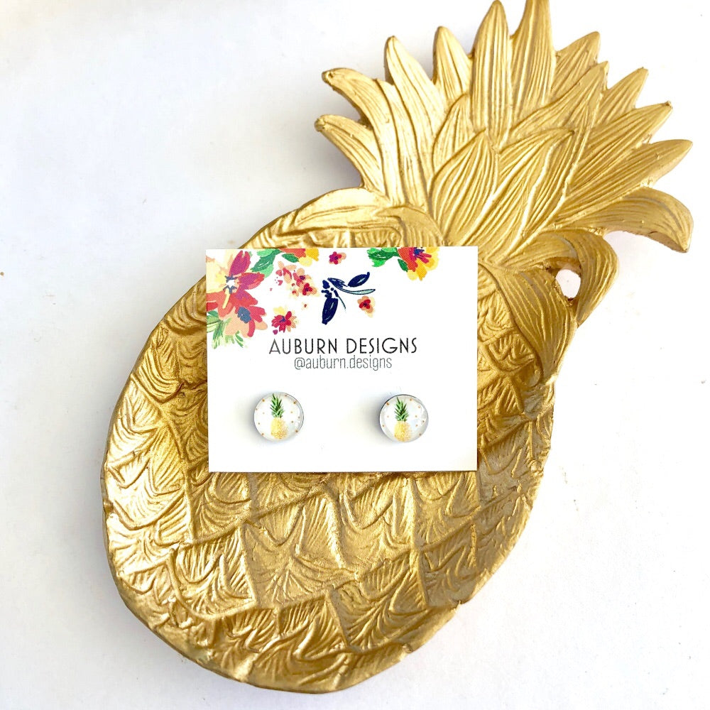 Pineapple Resin Studs