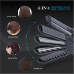 Hair Straightener & Corn Wide Waves Plate 4 style Interchangeable Hair Curling iron