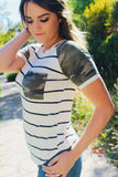 Camo Stripe Top