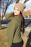 Kaycie Sweater Top in Olive