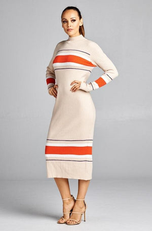 Long Sleeve Midi Sweater dress
