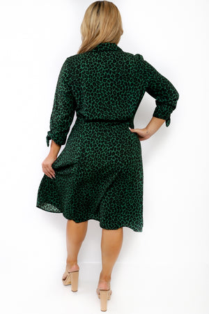 Animal Hunter Green Dress