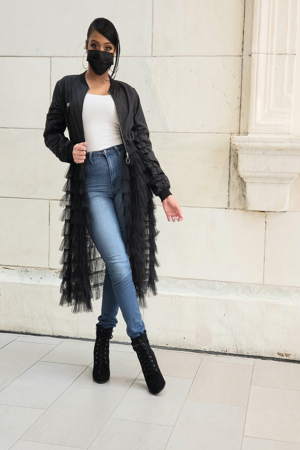 Black Tulle Jacket