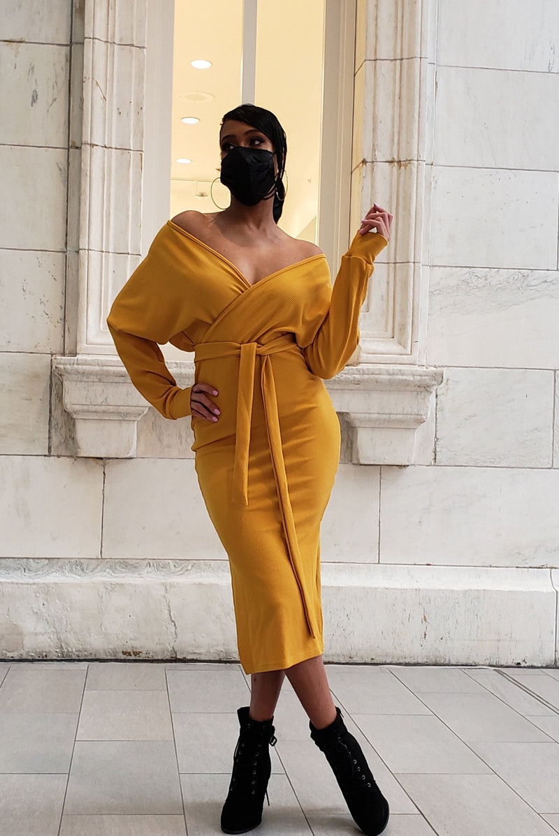 Not Too Much Mustard Dress