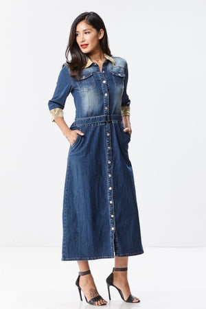 Maxi Chic Denim Dress