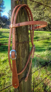 "5/8"" Cowboy Tear Drop Harness Browband Headstall"