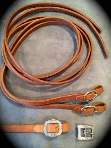 Buckle On Harness Leather Split Reins